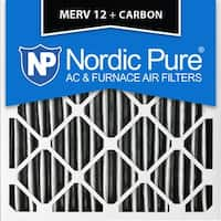 Nordic Pure 18x18x1 Pleated MERV 12 Plus Carbon AC Furnace Air Filters Qty 6