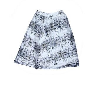 JOA Womens Organza Printed A-Line Skirt