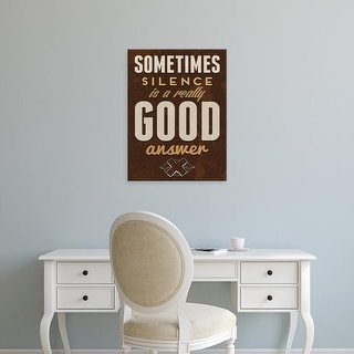 Easy Art Prints GraphINC's 'Sometimes' Premium Canvas Art