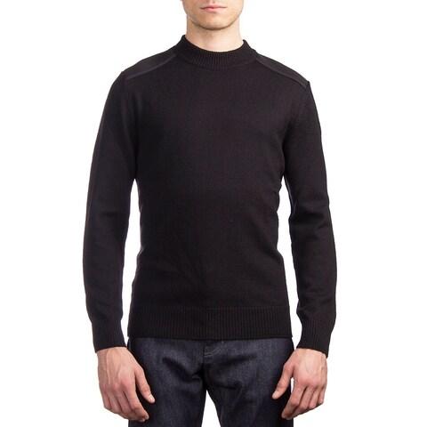 Moncler Men's Wool Crewneck Sweater Black
