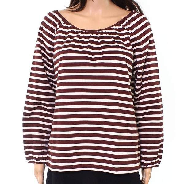 ec6fa8a465c Shop J. Crew Brownish Striped Women s Tie-Neck Knit Blouse - On Sale - Free  Shipping On Orders Over  45 - Overstock - 26895694