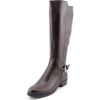 Alfani Jarabina Wide Calf Round Toe Leather Knee High Boot