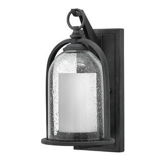 """Hinkley Lighting 2614-LED 1 Light 13.5"""" Tall LED Lantern Candle Wall Sconce with Clear Seedy Glass Shade from the Quincy"""