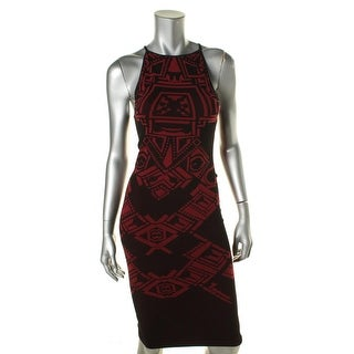 Free People Womens Printed Halter Casual Dress - m/l