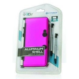 3DS Aluminum Shell with 2 Stylus Pink