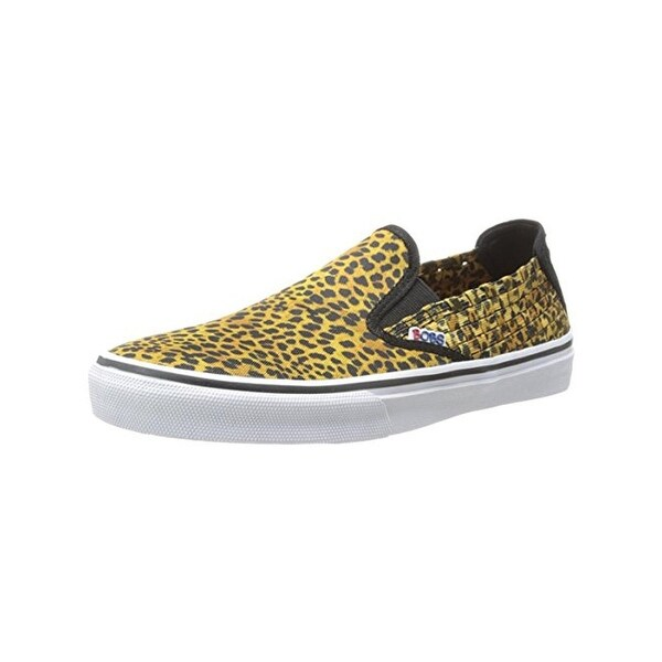 Skechers Womens The Menace Top Cat Fashion Loafers Woven Animal Print