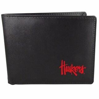 Nebraska Cornhuskers Bi-fold Wallet Black ID Window Bifold