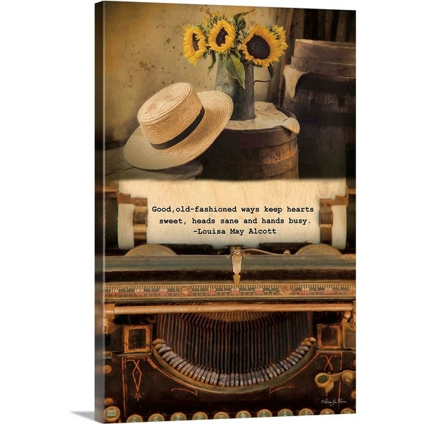 """Old-Fashioned Ways"" Canvas Wall Art"