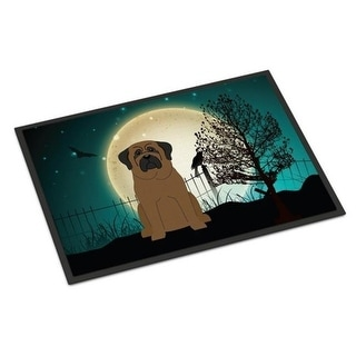 Carolines Treasures BB2274MAT Halloween Scary Bullmastiff Indoor or Outdoor Mat 18 x 0.25 x 27 in.