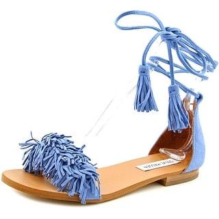 Steve Madden Sweetyy Women Open Toe Suede Blue Gladiator Sandal