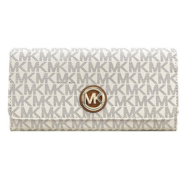 fc57e9ab804340 Shop Michael Kors Signature Fulton Flap Continental Carryall Wallet ...