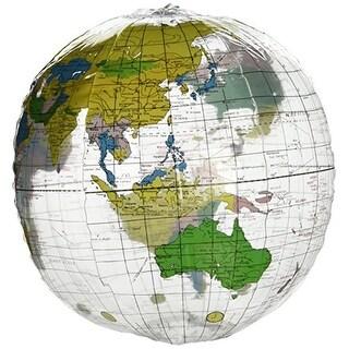 12 Inch Clear Globe Inflate Beach Ball, Pack of 12