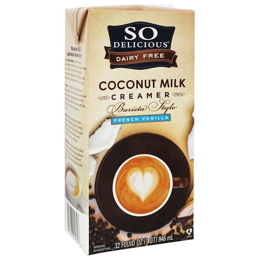 So Delicious Barista Style Coconut Milk Creamer - French Vanilla - Case of 6 - 32 Fl oz.