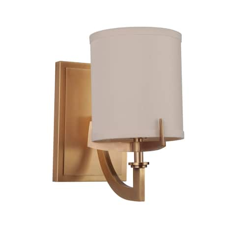 """Craftmade 48361 Devlyn Single Light 9-1/4"""" Tall Wall Sconce - Vintage Brass"""