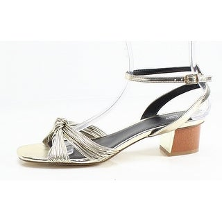 Abound NEW Gold Pleather Open Toe Women's 9.5M Ankle Strap Heel Sandal