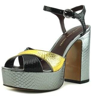 Marc By Marc Jacobs Embossed Women  Open Toe Leather Gold Platform Heel