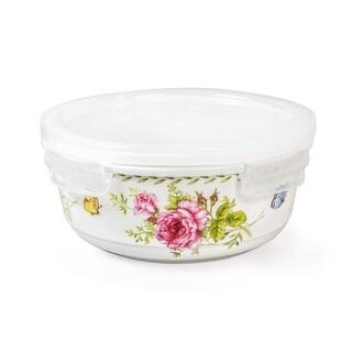 Lock & Lock Ashley 610ml /20oz Round Ceramic Bowl