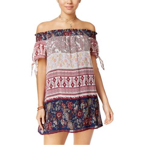 Speechless Womens Mixed-Print Shift Dress, Multicoloured, Small