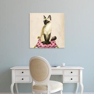 Easy Art Prints Grace Popp's 'Lady Cat II' Premium Canvas Art