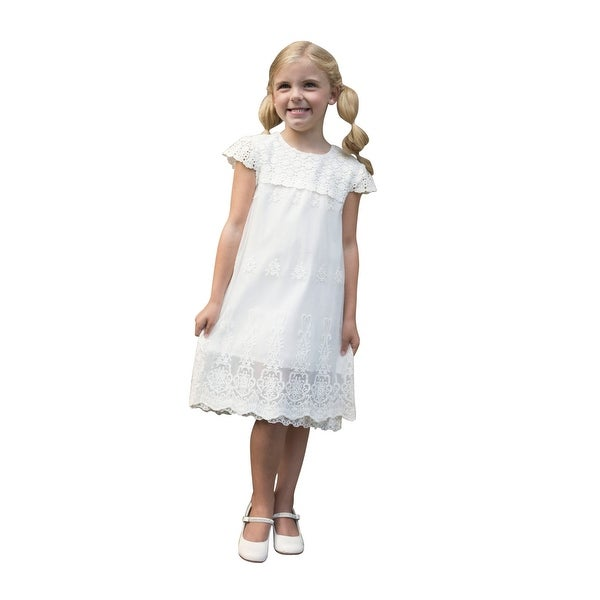 aeda0a46c5b23 Shop Girls White Vintage Lace Grace Slip Summer Dress - Free Shipping On  Orders Over $45 - Overstock - 23079135