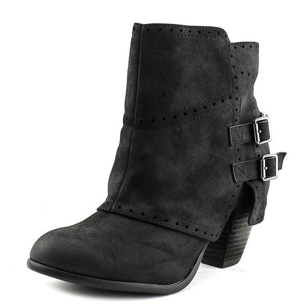 Not Rated Carolyn Women Round Toe Synthetic Black Ankle Boot