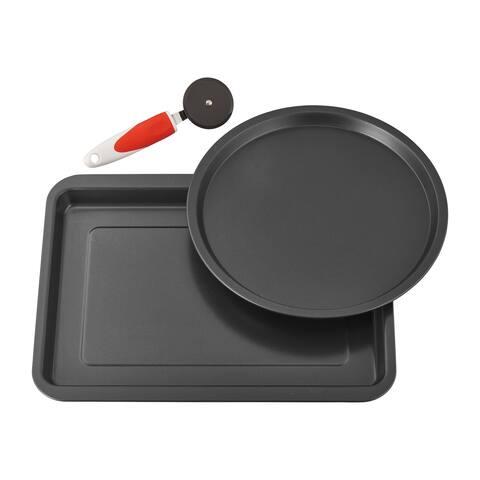 Ballarini cookin'Italy Pizza Pan Set - Black
