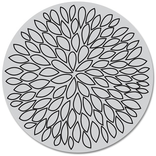 "Hero Arts Cling Stamps 4""X4""-Large Open Flower"