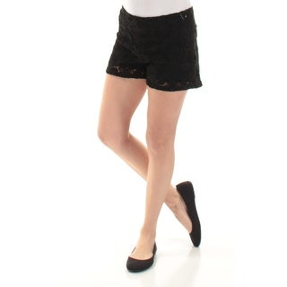 BEBOP Womens New 1115 Black Textured Cropped Casual Short S B+B