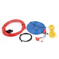 Unique Bargains 4 in 1 Car RCA Speaker Amplifier Wiring Cable Wire Kit