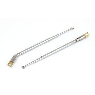 2pcs 27.5cm Length Rotated 360 Degree 5 Sections Telescopic Antenna Aerial Mast