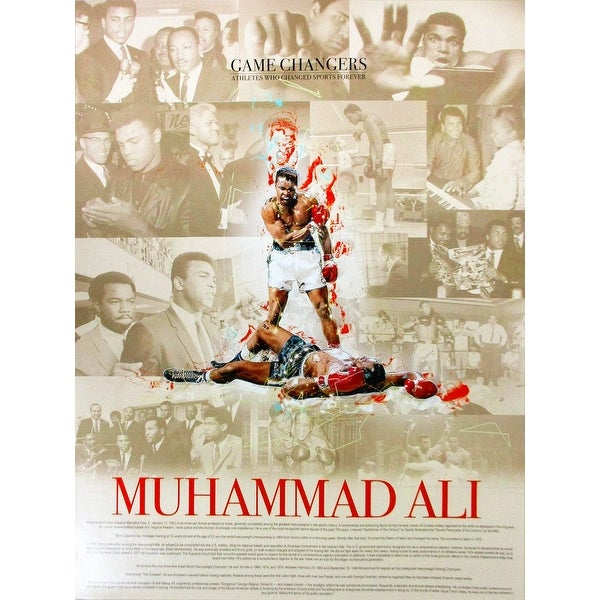 Muhammad Ali Poster with Biography (18x24) - Multi-Color