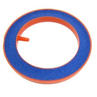 "Orange Blue Round Mineral Bubble Aquarium Air Stone 3.94"" OD"