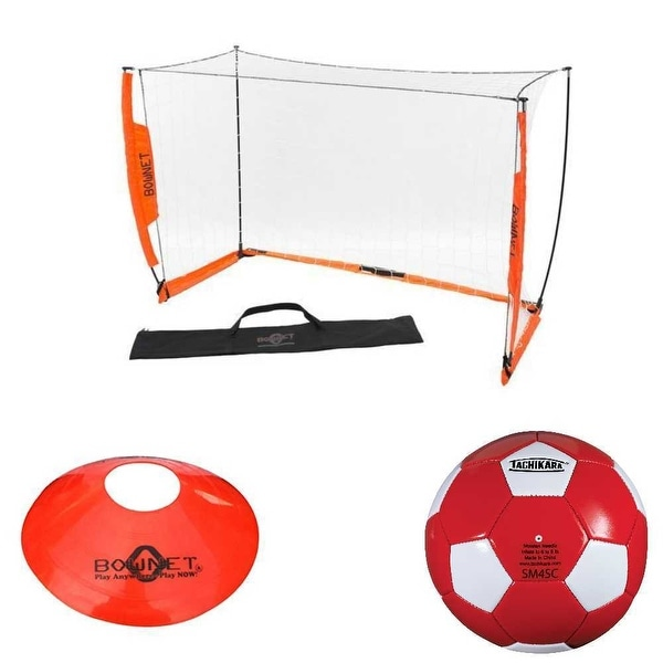 10c737ea5 Shop Bownet Soccer Net Set with Soccer Ball and Field Cones Bundle - Free  Shipping Today - Overstock - 21779995