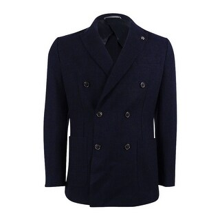 Michael Kors Men's Textured Double-Breasted Blazer (Midnight, 40R) - Midnight - 40r