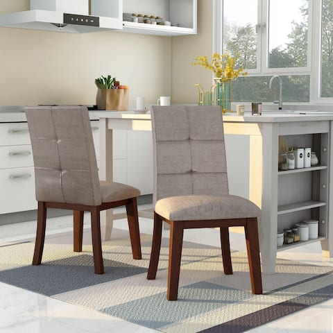 Furniture of America Yria Midcentury Modern Grey Dining Chairs (Set of 2)
