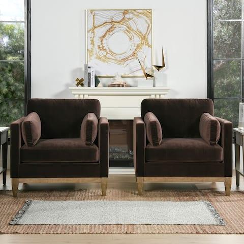 Knox Modern Loose Back Farmhouse Arm Chair by Jennifer Taylor Home