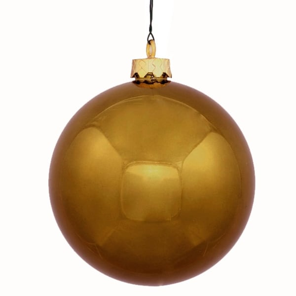 "Shiny Olive Green Commercial Shatterproof Christmas Ball Ornament 8"" (200mm)"