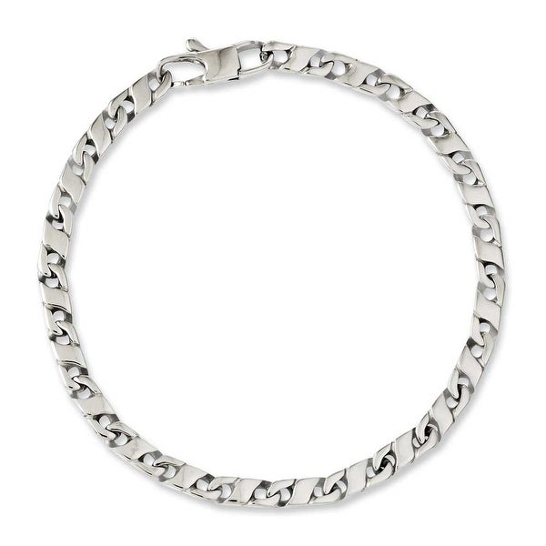 Chisel Stainless Steel Polished Oval Links 7.75in Bracelet