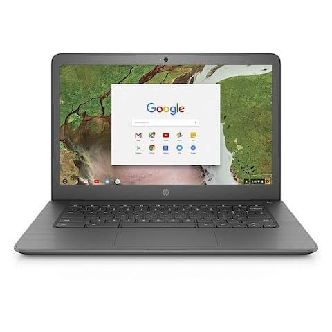 HP Chromebook 14-ca020nr Intel Celeron N3350 X2 1.1GHz 2GB 16GB SSD,Black(Certified Refurbished)