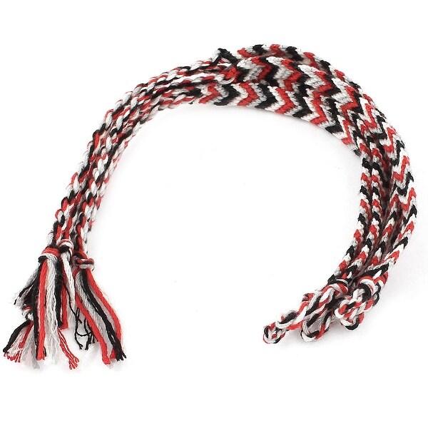 Unique Bargains Multi Color 1cm Width Braided String Button Knot Closure  Bracelet 5 Pieces