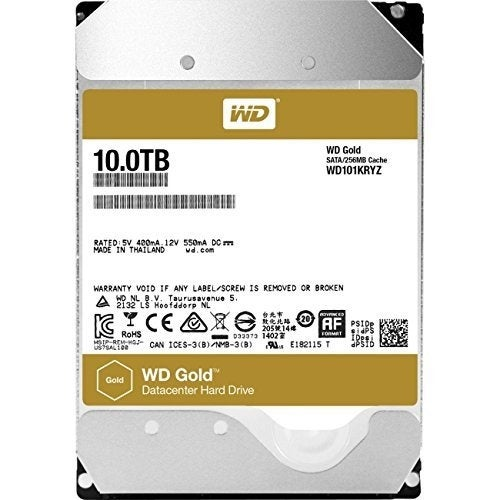 "Wd Gold Wd101kryz 10Tb 3.5"" Enterprise Class Hdd 7200 Rpm Sata 6Gb/S 256Mb Cache"