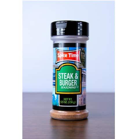 Pack of 12 Spice Time Steak & Burger Seasonings 5.5 oz. #OO475 - Blue - N/A