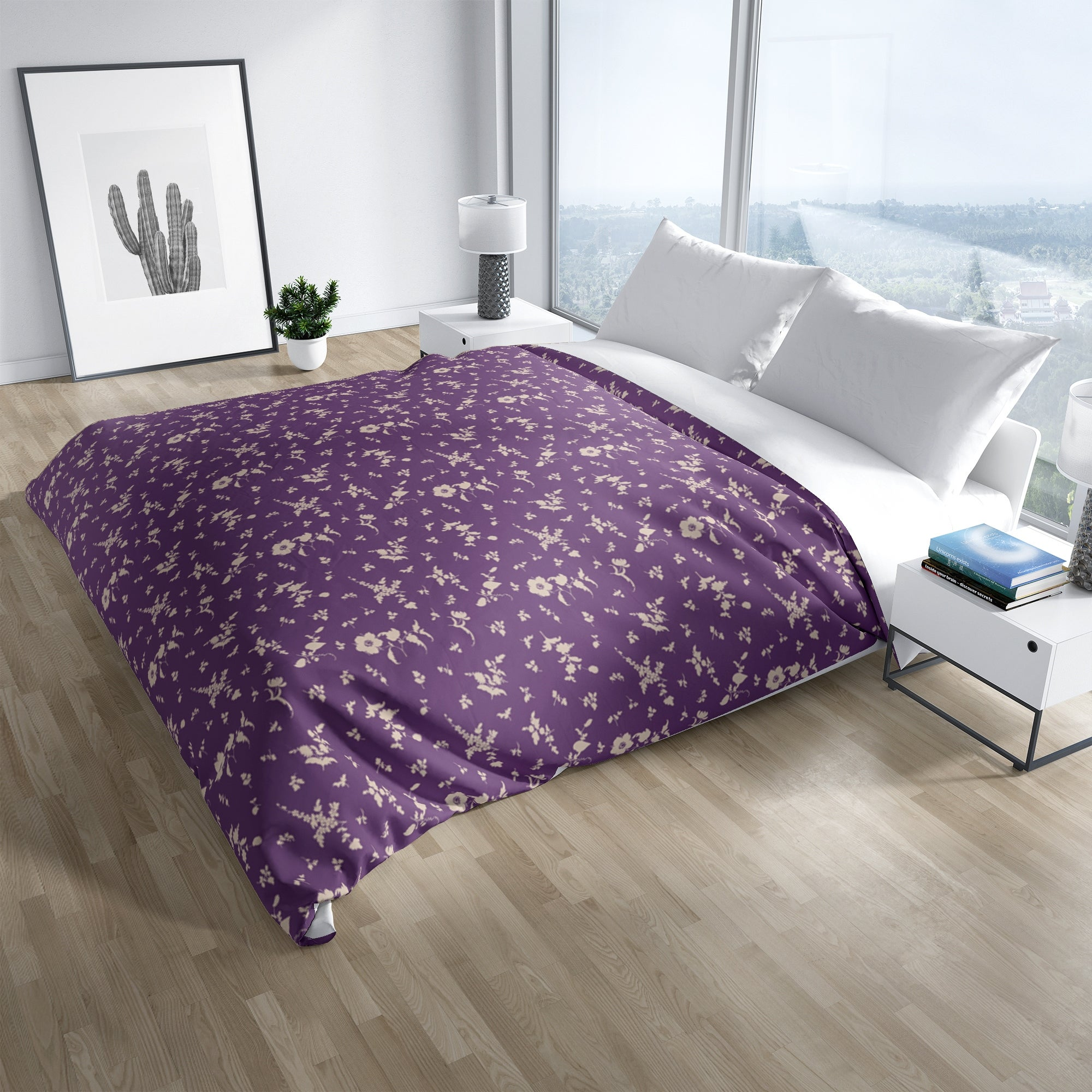 Floral Dance Purple Duvet Cover By Kavka Designs On Sale Overstock 30772783