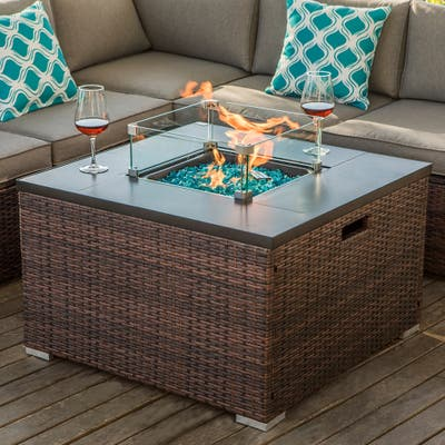 COSIEST Outdoor Propane Fire Pit Stainless Steel Burner
