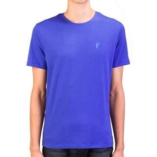 Versace Collection Men Medusa Logo Crew Neck T-Shirt Blue
