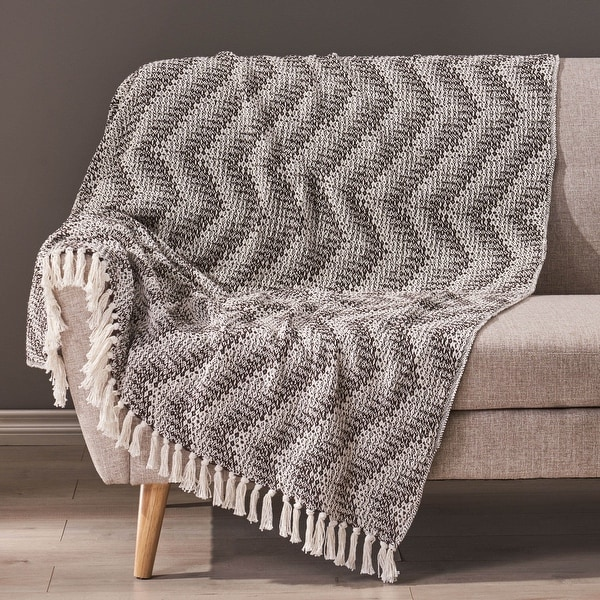 Barnegat Hand-Loomed Boho Throw Blanket by Christopher Knight Home. Opens flyout.