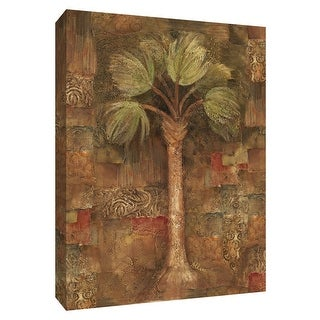 "PTM Images 9-154638  PTM Canvas Collection 10"" x 8"" - ""Spice Palm II"" Giclee Palm Trees Art Print on Canvas"