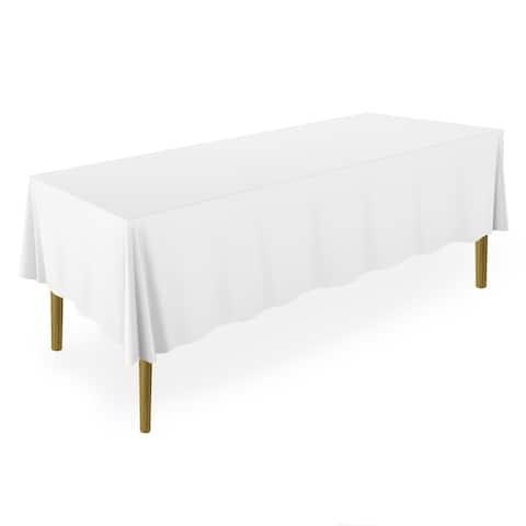 "60 x 126"" 20-Pack, Premium Tablecloths - White by Lann's Linens"