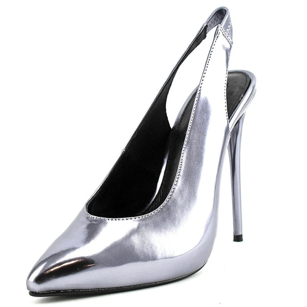 Steve Madden Nici Women  Pointed Toe Synthetic Silver Slingback Heel