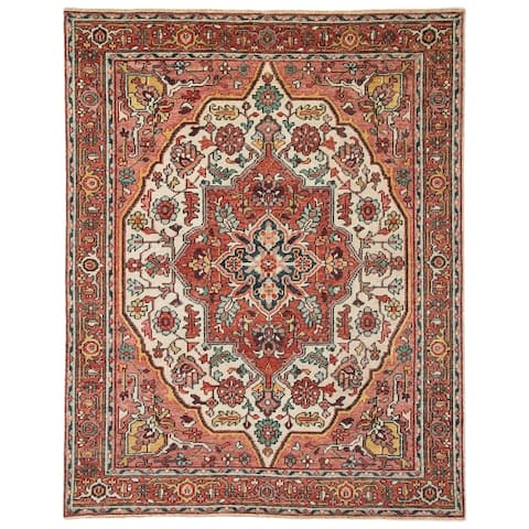 Wilkes Hand-Knotted Medallion Area Rug